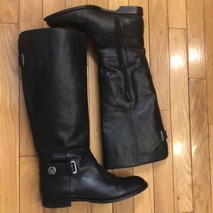 Coach Riding Boots Black Leather